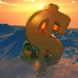 Dollar Sinking Royalty Free Stock Images