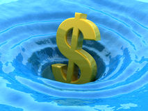 Dollar sinks Stock Image
