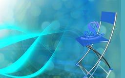 Dollar sit in a chair. Digital illustration of dollar sit in a chair Royalty Free Stock Photos