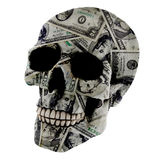 Dollar skull Royalty Free Stock Photo