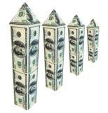 Dollar skyscraper Royalty Free Stock Images