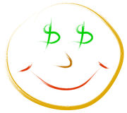Dollar smile Stock Images
