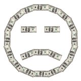 Dollar Smiley sad Stock Images