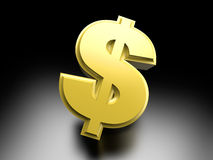 Dollar Smybol. Dollar money symbol. 3D rendered Illustration Royalty Free Stock Image