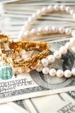 dollar smycken fotografering för bildbyråer