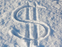 Dollar snow Royalty Free Stock Images