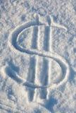 Dollar snow Royalty Free Stock Photography