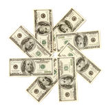 Dollar Snowflake Stock Photography