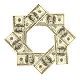 Dollar Snowflake Royalty Free Stock Image