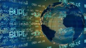 Dollar som axeln av världen Öglasanimering arkivfilmer