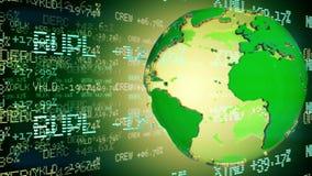 Dollar som axeln av världen Öglasanimering stock video