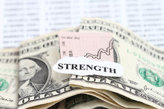 dollar som får starkare Arkivbild