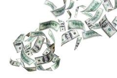 dollar som faller oss Fotografering för Bildbyråer