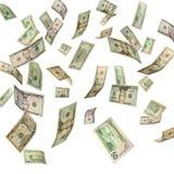 dollar som faller oss Royaltyfri Foto