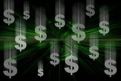 dollar som faller oss Royaltyfri Bild