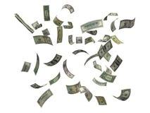 dollar som faller oss Royaltyfria Foton