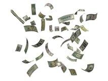 dollar som faller oss Royaltyfria Bilder