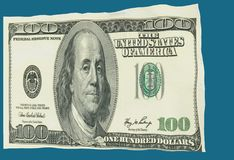 Dollar som flaggan som vinkar i vinden - tolkning 3d Arkivfoto