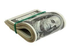 Dollar som isoleras på vit Royaltyfria Foton