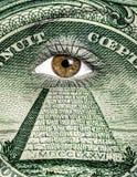 Dollar som målas på framsida Arkivbilder