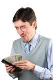 dollar som rymmer mannen Fotografering för Bildbyråer
