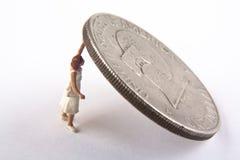 dollar som rymmer upp Royaltyfria Bilder