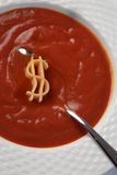 Dollar soup Royalty Free Stock Photo