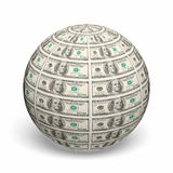 Dollar sphere Royalty Free Stock Images