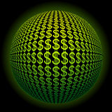 Dollar sphere Royalty Free Stock Photos