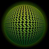 Dollar sphere Royalty Free Stock Photos