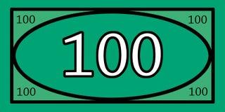 100 Dollar-Spiel-Geld Lizenzfreie Stockfotos
