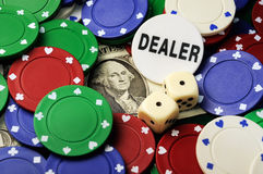 Dollar spielend Lizenzfreie Stockbilder