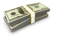 Dollar Stack Royalty Free Stock Images