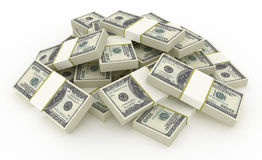 Dollar Stack. High Quality 3d Render. Include Clipping Path Royalty Free Stock Photos