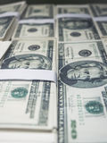 Dollar stack close up Currency Business Stock Images