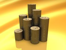 Dollar Stack. Illustration of a Money in 3D stock illustration