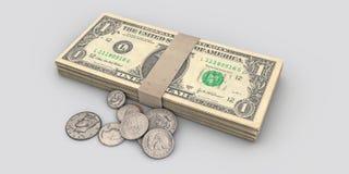 Dollar stack Stock Photo