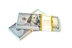 Dollar stack isolated Stock Photo