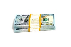 Dollar stack isolated Stock Photography