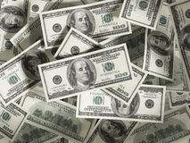 Dollar stack Stock Photo
