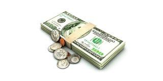 Dollar stack Royalty Free Stock Photos