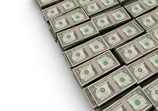 Dollar stacks Royalty Free Stock Photo
