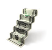 Dollar stair Royalty Free Stock Image