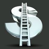Dollar Stairs. Illustration of image of stair in dollar symbol Royalty Free Stock Photo