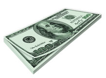 dollar stapel Royaltyfri Fotografi