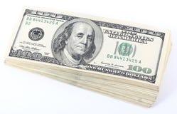 dollar stapel arkivfoto