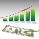 Dollar-statistics graphic Stock Image