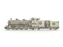 Dollar steam engine. Symbolizing the power of money Royalty Free Stock Image