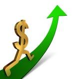 Dollar steigend Lizenzfreies Stockfoto
