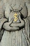 Dollar Steinbeutel- Lizenzfreies Stockfoto